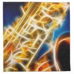 Saxofón - fractal servilleta