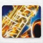 Saxofón - fractal tapetes de ratones