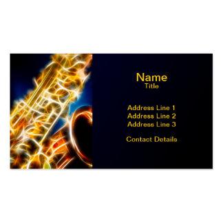 Saxofón - fractal plantilla de tarjeta de visita