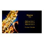 Saxofón - fractal tarjetas de visita