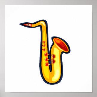Saxofón gráfico de la derecha del revestimiento de impresiones