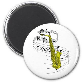 Saxofón Imán Redondo 5 Cm
