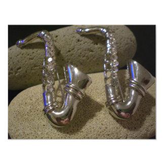 """Saxofón Invitación 4.25"""" X 5.5"""""""