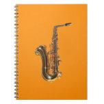Saxofón Libro De Apuntes Con Espiral