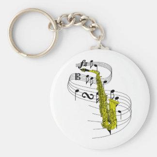 Saxofón Llaveros