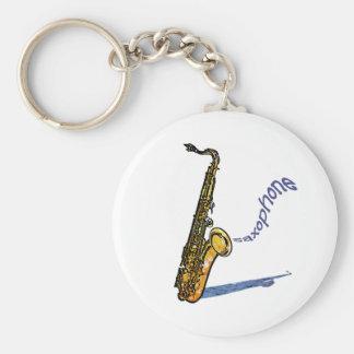 Saxofón Llavero Redondo Tipo Pin