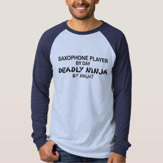 Saxofón Ninja mortal por noche Playeras