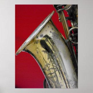 Saxofón Poster