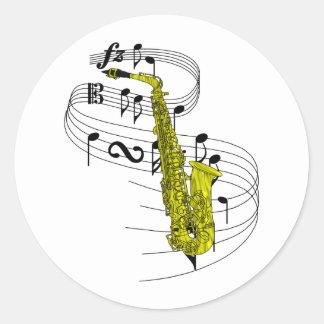 Saxofón Pegatinas