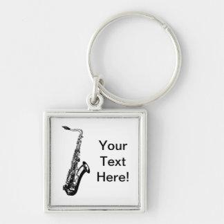 Saxofón personalizado llaveros