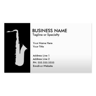 saxofón profesional tarjetas de visita