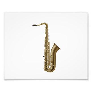 Saxofón que hace frente al gráfico derecho fotografía