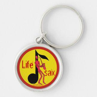 Saxofón que juega el llavero del dibujo de la tint