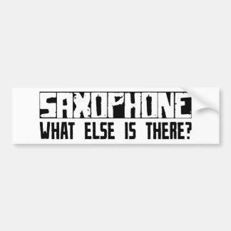 ¿Saxofón qué más está allí? Pegatina Para Auto