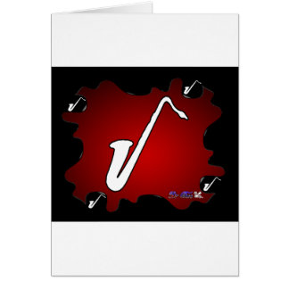 SAXOFON RED BACKGROUND PRODUCTS CARD