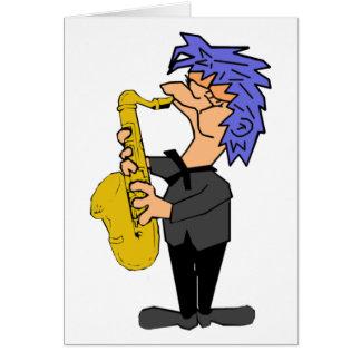 Saxofón Sam Tarjeta De Felicitación