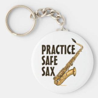 Saxofón seguro de la práctica - tenor llaveros personalizados