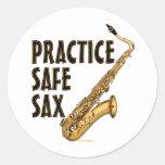 Saxofón seguro de la práctica - tenor etiquetas redondas
