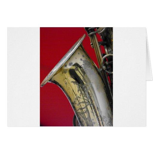 Saxofón Tarjeta De Felicitación