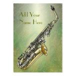 Saxofón Tarjeta De Visita