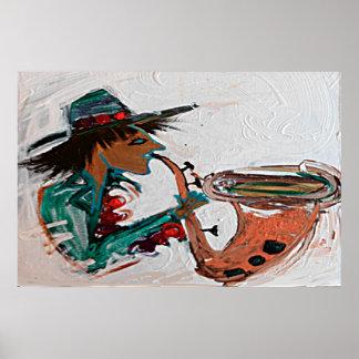 saxofón un 36x24 abstracto impresiones
