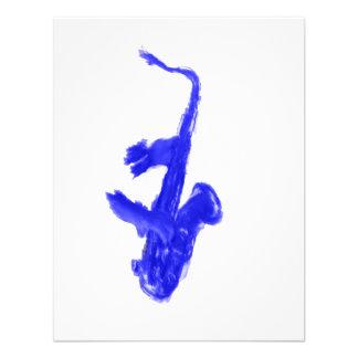 Saxofón y manos versión azul comunicado