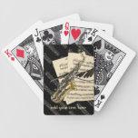 Saxofón y música del piano personalizada baraja cartas de poker