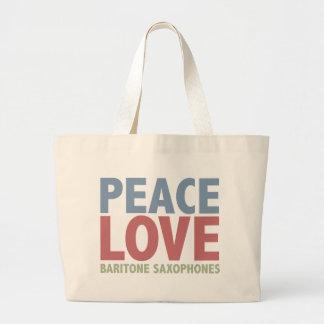 Saxofones del barítono del amor de la paz bolsas