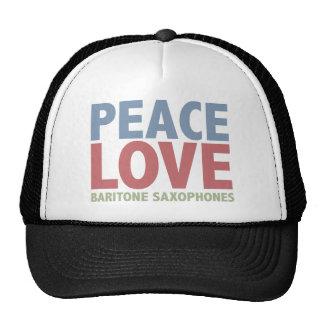 Saxofones del barítono del amor de la paz gorro de camionero