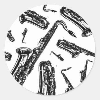 Saxofones Etiquetas