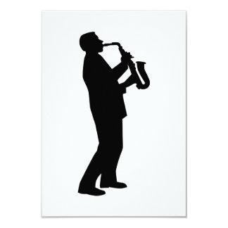 Saxofonista del jugador de saxofón invitación personalizada