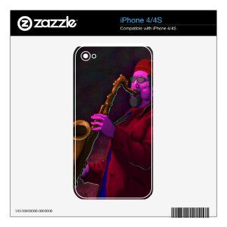 Saxofonista iPhone 4 Calcomanía