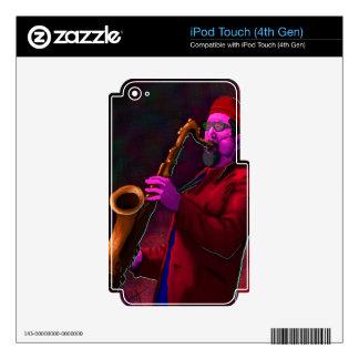 Saxofonista iPod Touch 4G Calcomanía