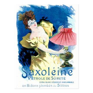 """""""Saxoleine French Petrol Ad Postcard"""