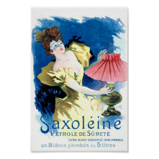"""Saxoleine French Petrol Ad Poster"