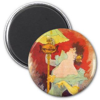 Saxoleine, Jules Chéret 2 Inch Round Magnet