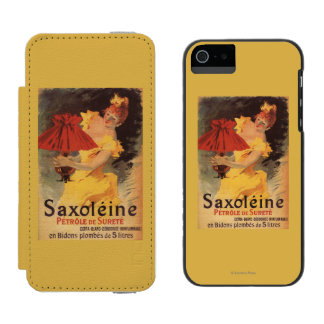 Saxoleine Lamp Oil Red Lampshade Wallet Case For iPhone SE/5/5s
