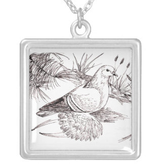 Saxon Field Pigeon Silver Plated Necklace
