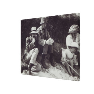 Saxon Sydney Turner, Clive Bell, and Julian Canvas Print