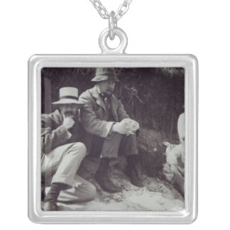 Saxon Sydney Turner, Clive Bell, and Julian Square Pendant Necklace
