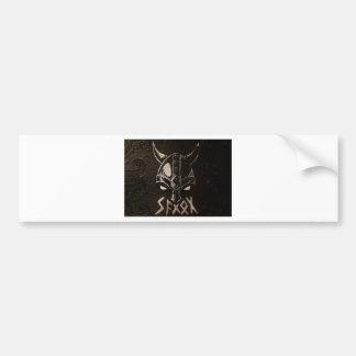 Saxon viking logo bumper sticker