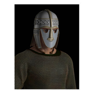 Saxon Warrior Chieftain Portrait Postcard