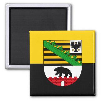 Saxonia-Anhalt flag 2 Inch Square Magnet