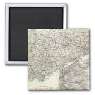 Saxony, Dresden Germany 2 Inch Square Magnet