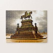 Saxony Dresden Monument Reiter Germany. Jigsaw Puzzle