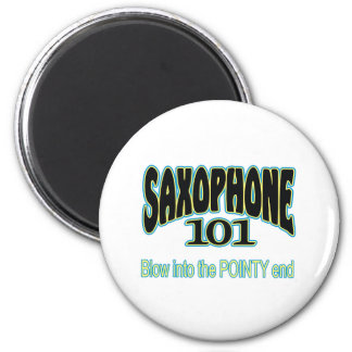 Saxophone 101 refrigerator magnet