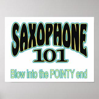 Saxophone 101 poster