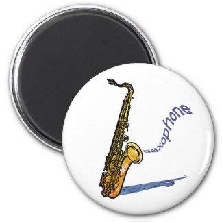 Saxophone 2 Inch Round Magnet