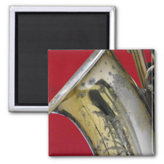Saxophone 2 Inch Square Magnet