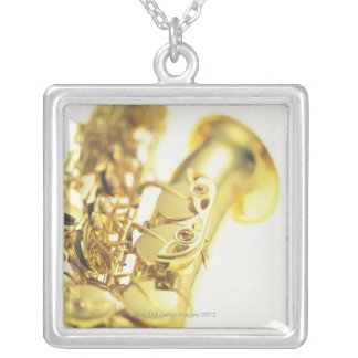 Saxophone 3 silver plated necklace